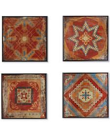 Madison Park Moroccan Tile 4-Pc. Gel-Coated Deco Box Print Set
