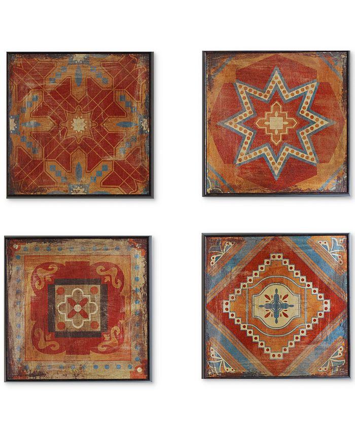 JLA Home - Moroccan Tile 3-Pc. Gel-Coated Deco Box Print Set