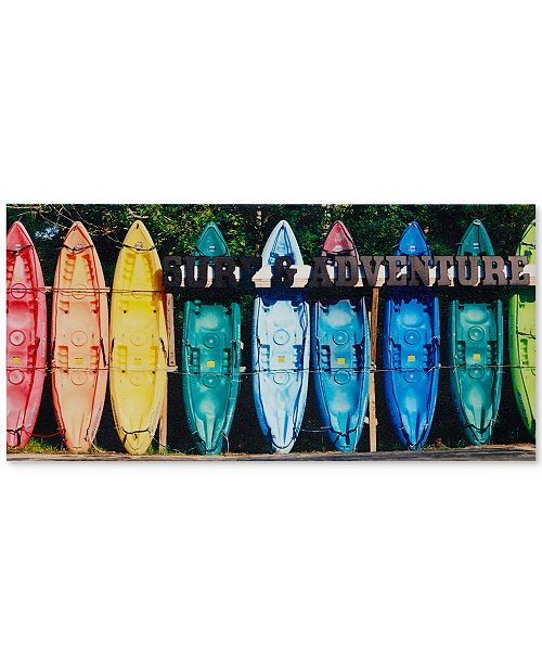 JLA Home Intelligent Design Kayaking Colors Gel-Coated Canvas Print