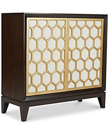 Honeycomb Accent Cabinet, Quick Ship