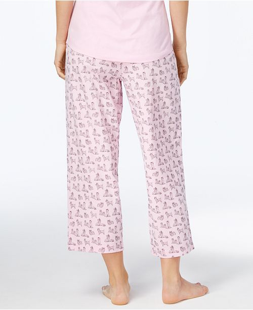 a35718d91623 Charter Club Printed Cotton Knit Cropped Pajama Pants, Created for Macy's  ...