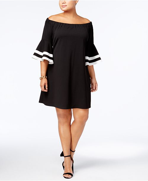 Love Squared Trendy Plus Size Off-The-Shoulder Dress ...