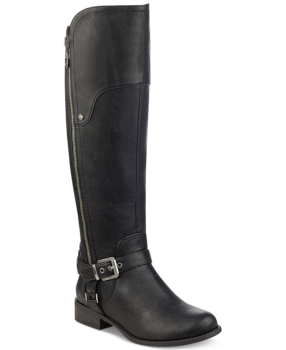 25bf0f2e664 G by GUESS Harson Wide-Calf Tall Riding Boots   Reviews - Boots - Shoes -  Macy s