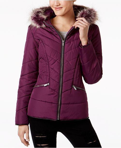 new structural disablities various colors Celebrity Pink Juniors' Faux-Fur-Trim Puffer Coat & Reviews ...