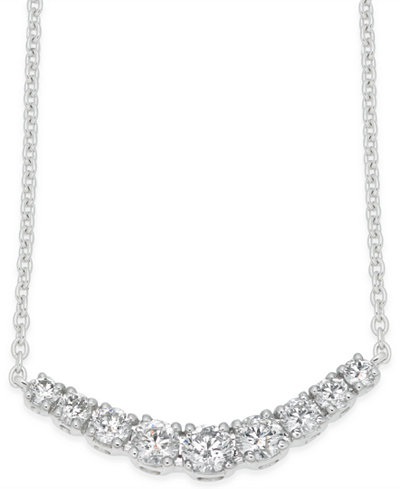 Diamond Classic Collar Necklace (1/2 ct. t.w.) in 14k White Gold