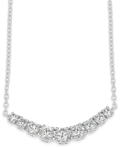 Macy's Diamond Classic Collar Necklace (1/2 ct. t.w.) in 14k White Gold