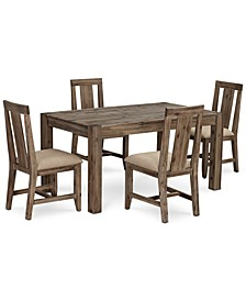 "Canyon Small  5-Pc. Dining Set (60"" Dining Table & 4 Side Chairs), Created for Macy's"