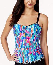 Profile by Gottex Serendipity Printed D-Cup Underwire Tankini Top