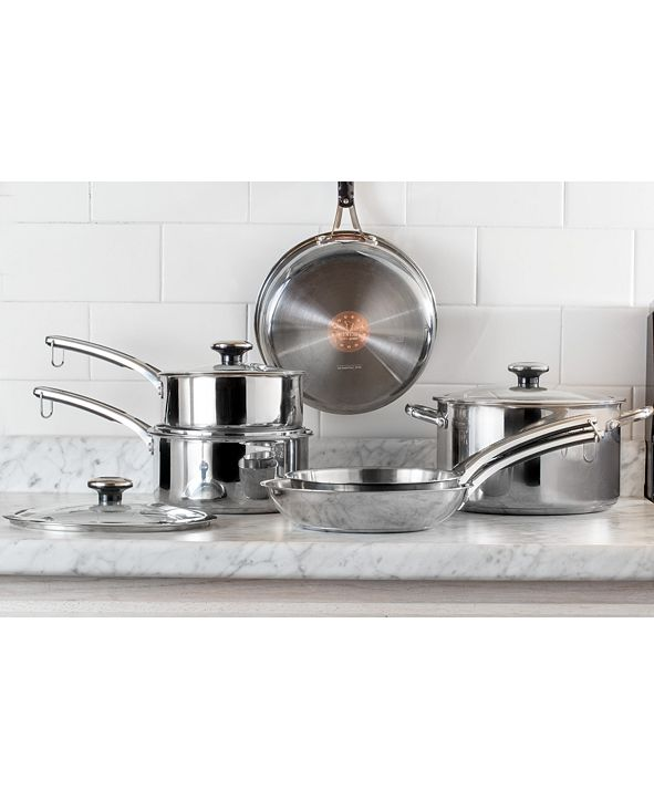 Revere Confidence Core™ 10-Pc. Stainless Steel Cookware Set