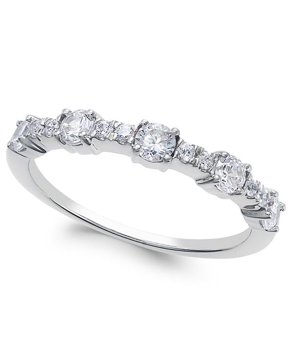 Macy's Diamond Band (1/2 ct. t.w.) in 14k Gold, Rose Gold or White Gold