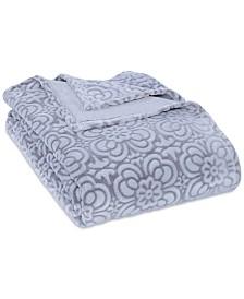 Berkshire VelvetLoft® Tipped Floral Plush Full/Queen Blanket