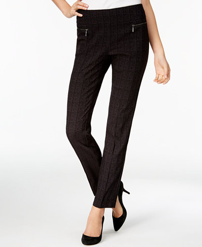 Style & Co Plaid Skinny Pants, Created for Macy's