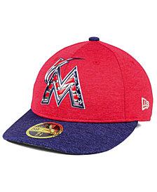 New Era Miami Marlins Low Profile Stars & Stripes 59FIFTY Cap