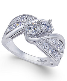 Diamond Two Souls Engagement Ring (1-1/2 ct. t.w.) in 14k White Gold