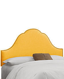 Jenny Nail Button Headboard - California King, Quick Ship
