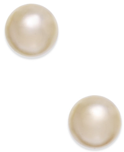 Charter Club Champagne Imitation Pearl Stud Earrings, Created for Macy's