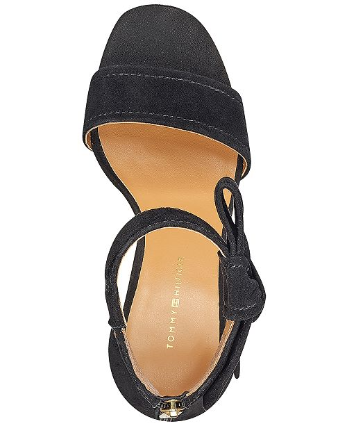 cac4d52bb Tommy Hilfiger Sunday Two-Piece Block-Heel Dress Sandals   Reviews ...