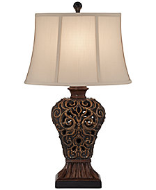 Kathy Ireland Home by Pacific Coast Palace Weave Table Lamp