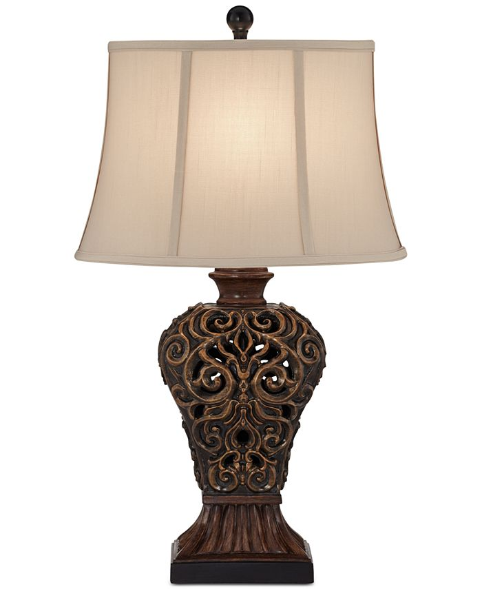 Kathy Ireland - Palace Weave Metal Table Lamp