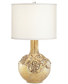 CLOSEOUT! Pacific Coast Poppy Floral Vase Table Lamp
