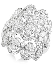 Rock Candy by EFFY® Openwork Diamond Cluster Ring (2-1/3 ct. t.w.) in 14k White Gold