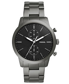Fossil Men's Chronograph Townsman Smoke Stainless Steel Bracelet Watch 44mm