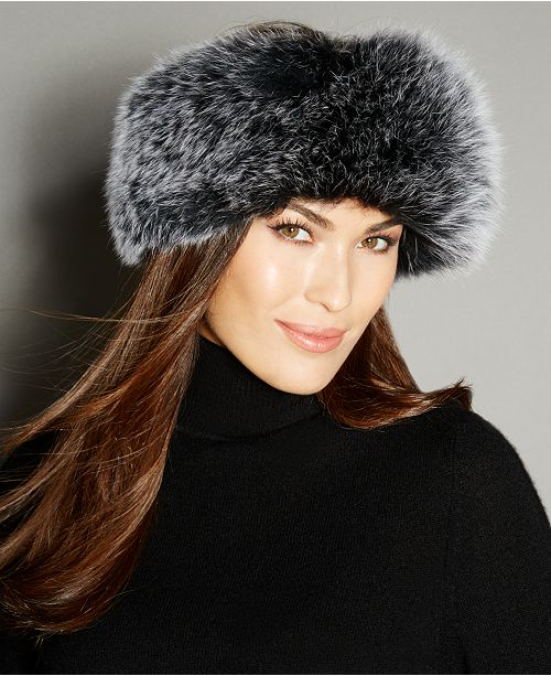 8b4a88d60172b The Fur Vault Fox Fur Knitted Headband   Reviews - The Fur Vault ...