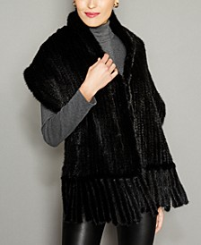 Knitted Mink Fur Stole