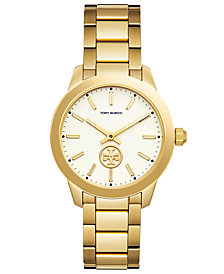 Tory Burch Women's Collins Gold-Tone Stainless Steel Bracelet Watch 38mm