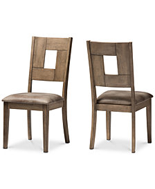 Gillian Faux Leather Upholstered Dining Side Chair (Set Of 2), Quick Ship