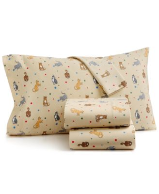martha stewart collection catu0027s meow 100 cotton flannel sheet sets created for macyu0027s