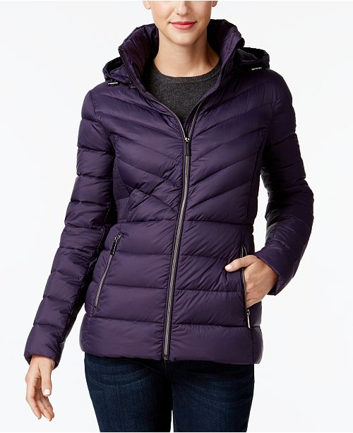 67b401c99f81 Michael Kors Packable Down Puffer Coat, Created for Macy's & Reviews ...