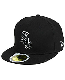 New Era Kids' Chicago White Sox Black and White Fashion 59FIFTY Fitted Cap