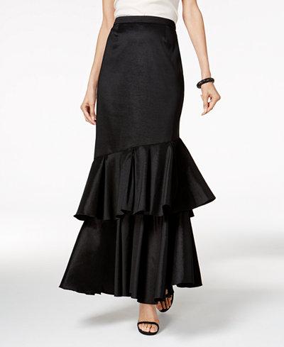 Alex Evenings Tiered Maxi Skirt
