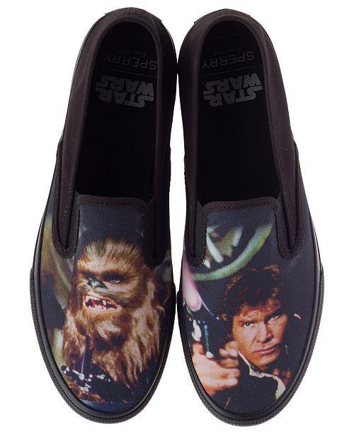 8adf9114 ... Sperry Star Wars Men's Cloud Slip-on Han and Chewie Sneakers ...