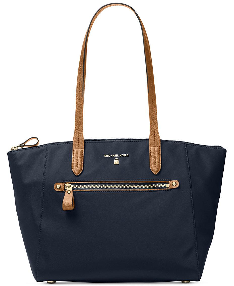 677521c366ea0 Michael Kors Kelsey Medium Top-Zip Nylon Tote   Reviews - Handbags    Accessories - Macy s