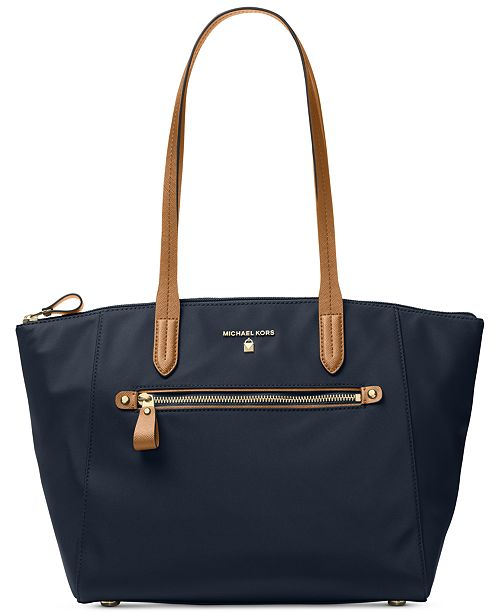 bd40310374a7 Michael Kors Kelsey Medium Top-Zip Nylon Tote & Reviews - Handbags ...