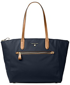 Kelsey Large Top-Zip Nylon Tote