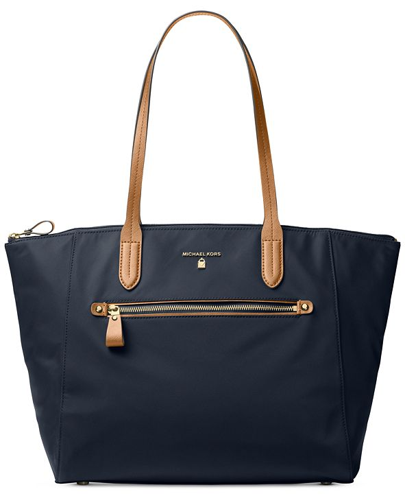 Michael Kors Kelsey Large Top-Zip Nylon Tote