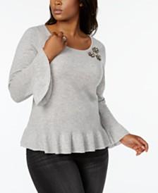 Plus Size Cashmere Sweaters - Macy's - Macy's