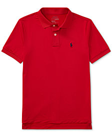 Ralph Lauren Big Boys Moisture-wicking Tech Jersey Polo Shirt