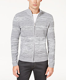 Alfani Men's Textured Full-Zip Cardigan, Created for Macy's