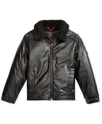 Hawke & Co. Faux-Leather Bomber Jacket, Toddler Boys (2T-5T ...