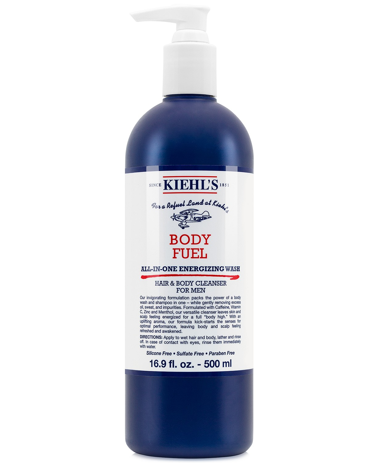 Kiehl's Since 1851 Body Fuel All-In-One Energizing Wash, 16.9-oz