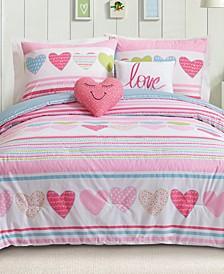 Daphne Reversible 5-Pc. Full/Queen Comforter Set