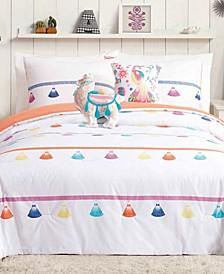 Painted Tassel Reversible 5-Pc. Full/Queen Comforter Set