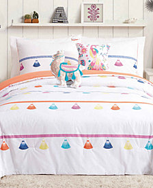 Urban Playground Painted Tassel Reversible 5-Pc. Full/Queen Comforter Set