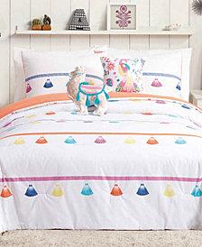 Urban Playground Painted Tassel Reversible 5-Pc. Full/Queen Comforter Set