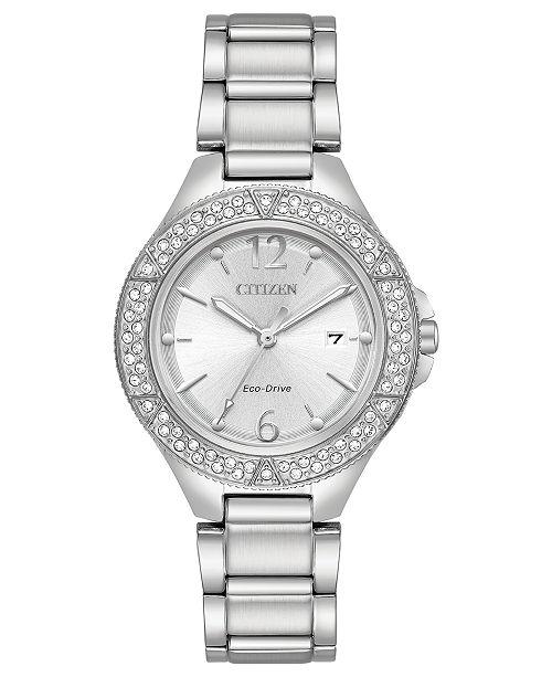 Citizen Eco-Drive Women's Stainless Steel Bracelet Watch 31mm
