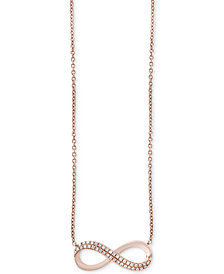 EFFY® Diamond Infinity Pendant Necklace (1/8 ct. t.w.) in 14k Rose Gold